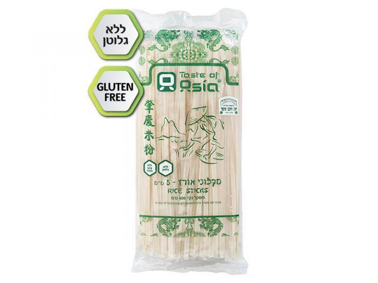 """אטריות אורז ללא גלוטן 5 מ""""מ 400 גרם"""