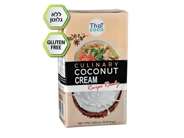 קרם קוקוס ללא גלוטן בקרטונית 1 ליטר