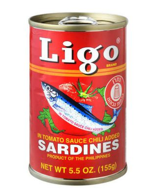 סרדינים ליגו חריף 155 גרם (אדום)