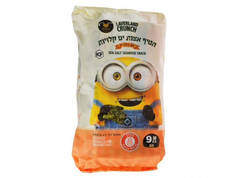 חטיף אצות קלויות עם מלח 9 יח' / 4.5 גרם